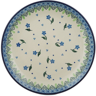 Polish Pottery Dessert Plate Wind-blown Daisies