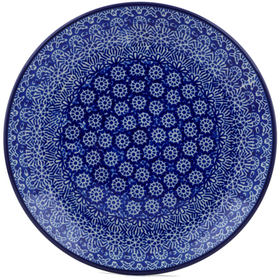 Polish Pottery Dessert Plate Winter Frost