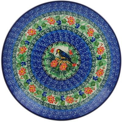 Polish Pottery Dinner Plate 10½-inch Aviary Oasis UNIKAT