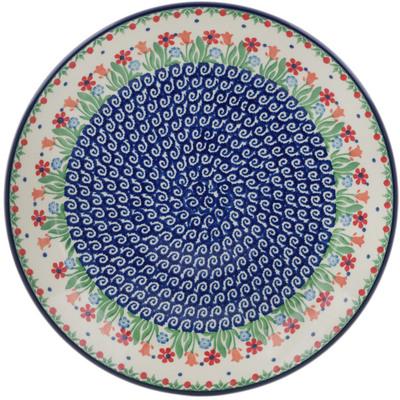 Polish Pottery Dinner Plate 10½-inch Babcia's Garden