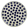 Polish Pottery Dinner Plate 10½-inch Bold Polka Dots