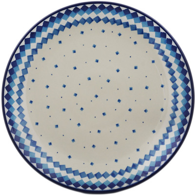 Polish Pottery Dinner Plate 10½-inch Geometric Winter