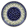 Polish Pottery Dinner Plate 10½-inch Springing Daisies