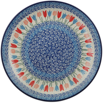 Polish Pottery Dinner Plate 10½-inch Tulip Fever