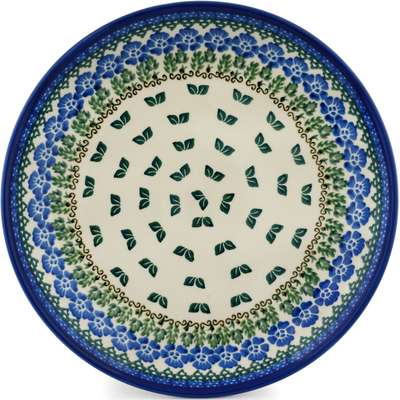 Polish Pottery Dinner Plate 10½-inch Wondering Leaves