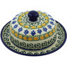 "Polish Pottery Dish with Cover 6"" Autumn Weatfields"