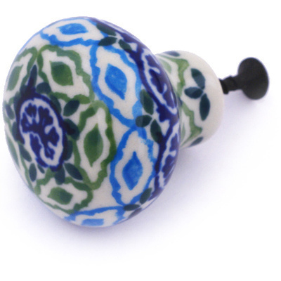 Polish Pottery Drawer knob 1-1/2 inch Aztec Eyes