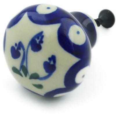 Polish Pottery Drawer knob 1-1/2 inch Bleeding Heart Peacock