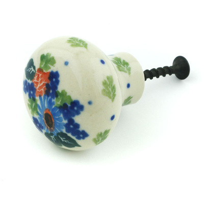 Polish Pottery Drawer knob 1-1/2 inch Field Of Dreams