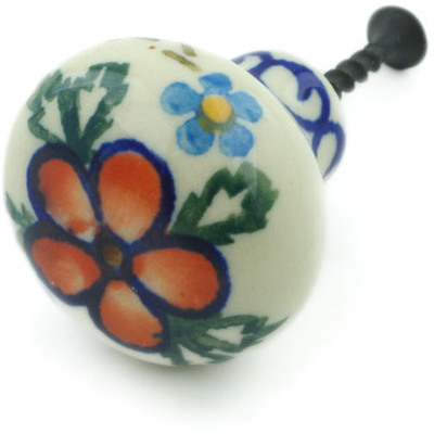 Polish Pottery Drawer knob 1-1/2 inch Lancaster Rose