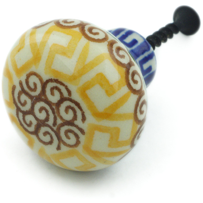 Polish Pottery Drawer knob 1-1/2 inch Mediterranean Sea