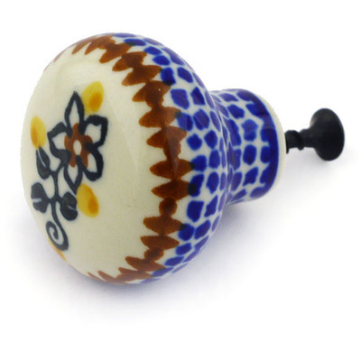 Polish Pottery Drawer knob 1-1/2 inch Southern Trail