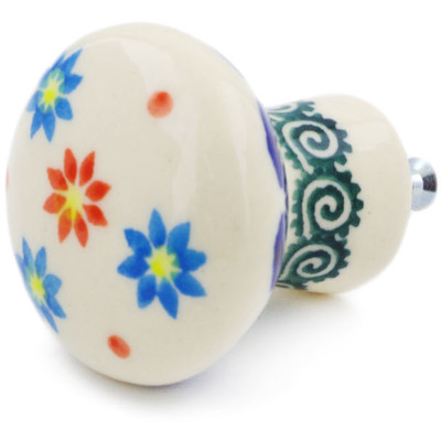 Polish Pottery Drawer knob 1-2/3 inch Sunflower Dance