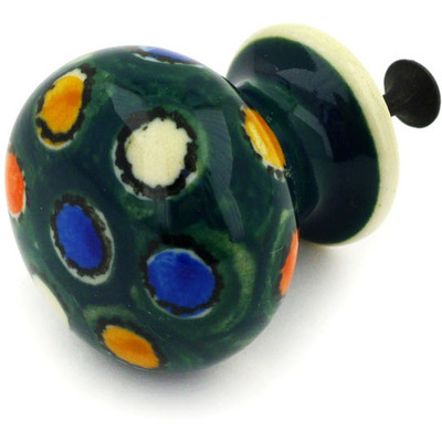 Polish Pottery Drawer knob 1-3/8 inch City Lights UNIKAT