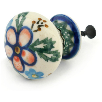 Polish Pottery Drawer knob 1-3/8 inch Lancaster Rose
