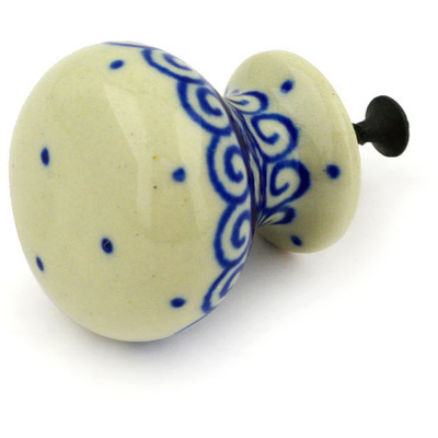 Polish Pottery Drawer knob 1-3/8 inch Light Hearted