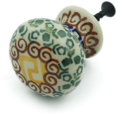 Polish Pottery Drawer knob 1-3/8 inch Mediterranean Sea
