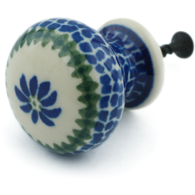 Polish Pottery Drawer knob 1-3/8 inch Polka Dot Daisy