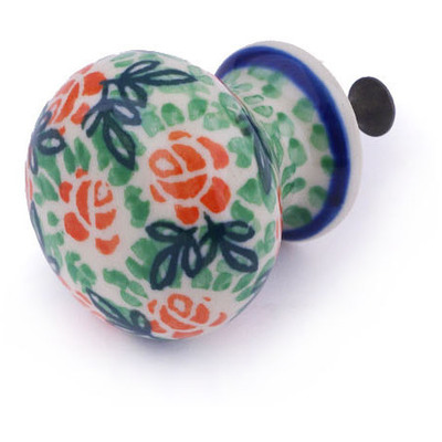 Polish Pottery Drawer knob 1-3/8 inch Rose Field