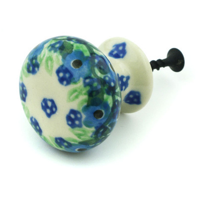 Polish Pottery Drawer knob 1-3/8 inch Spring Surprise