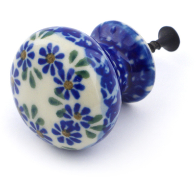 Polish Pottery Drawer knob 1-3/8 inch Wildflower Garland
