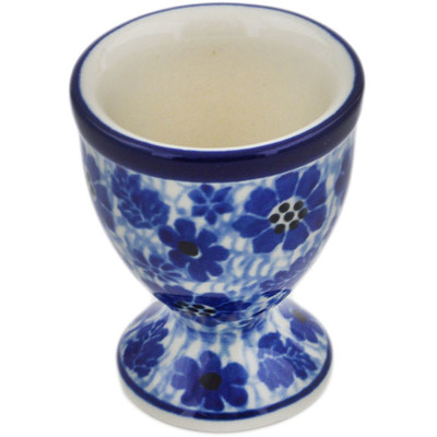 "Polish Pottery Egg Holder 2"" Misty Dragonfly"