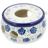 "Polish Pottery Heater 4"" Flowing Blues"