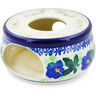 "Polish Pottery Heater 4"" Infinity Flower"