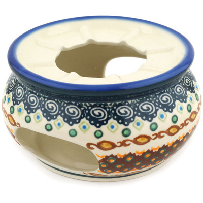 "Polish Pottery Heater 5"" Artichoke Heart UNIKAT"