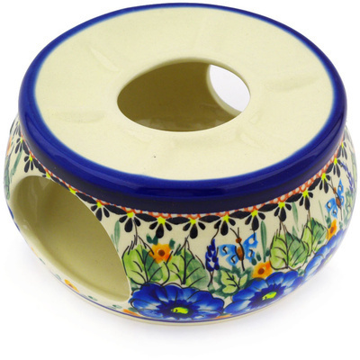 "Polish Pottery Heater 6"" Summer Splendor UNIKAT"