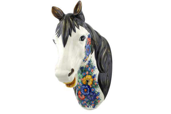 Polish Pottery Spoon Rest Horse Pattern