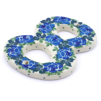 Polish Pottery House Number EIGHT (8) 4-inch Blue Garland
