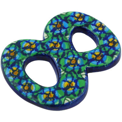 Polish Pottery House Number EIGHT (8) 4-inch Mardi Gra UNIKAT