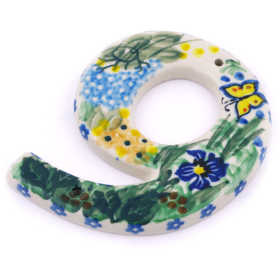 Polish Pottery House Number NINE (9) 4-inch Spring Garden UNIKAT