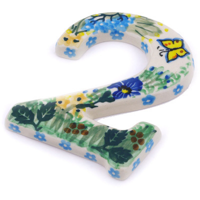 Polish Pottery House Number TWO (2) Spring Garden UNIKAT