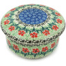 "Polish Pottery Jar with Lid 5"" Maraschino"