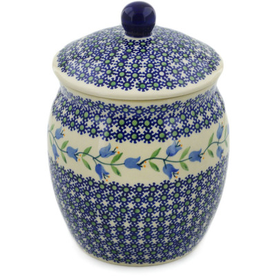 "Polish Pottery Jar with Lid 8"" Sweet Dreams"