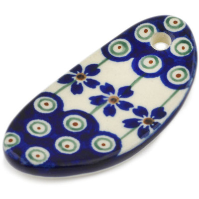 "Polish Pottery Key Chain 3"" Flowering Peacock"