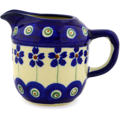 "Polish Pottery Mini Jug 2"" Flowering Peacock"