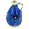 "Polish Pottery Mini Jug 3"" Cobalt Poppies UNIKAT"
