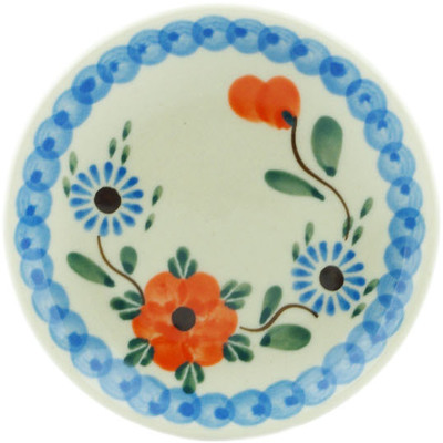 Polish Pottery Mini Plate Cherry Blossoms