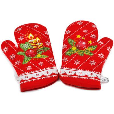 Polish Pottery Mittens for Oven