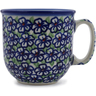 Polish Pottery Mug 10 oz Flower Bouquet