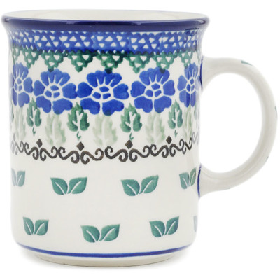 Polish Pottery Mug 10 oz Wondering Leaves