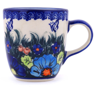 Polish Pottery Mug 11 oz Butterfly Splendor UNIKAT