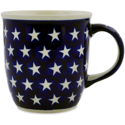 Polish Pottery Mug 12 oz America The Beautiful