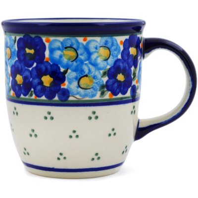 Polish Pottery Mug 12 oz Aura