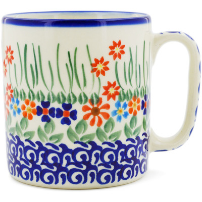 Polish Pottery Mug 12 oz Blissful Daisy