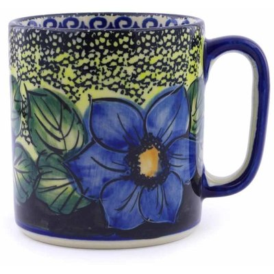 Polish Pottery Mug 12 oz Midnight Glow UNIKAT