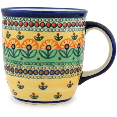 Polish Pottery Mug 12 oz Prairie Sunrise UNIKAT